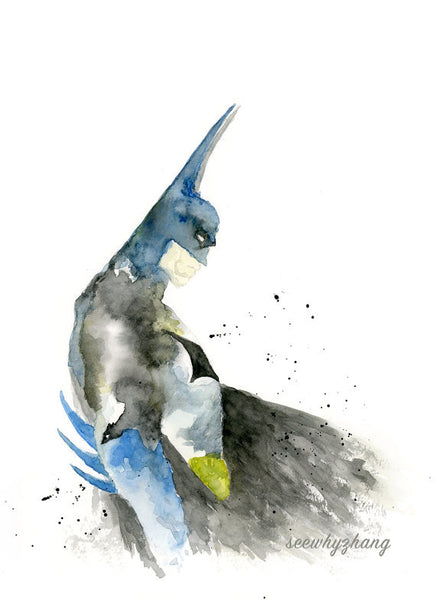 Batman - Modern Watercolor Art Print