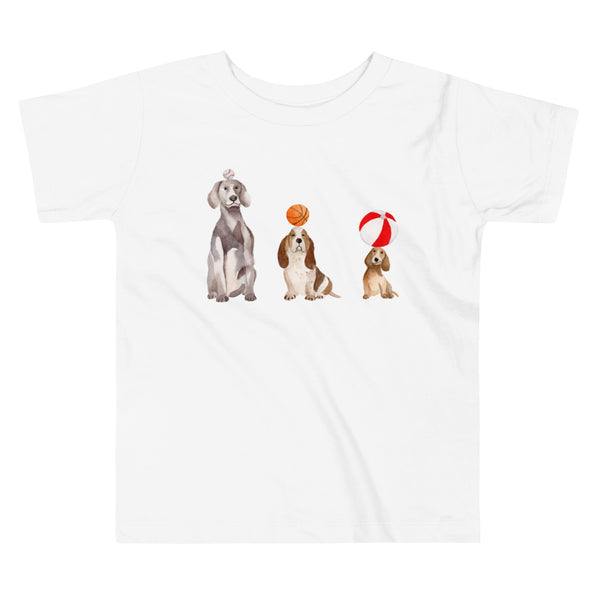Toddler Short Sleeve Tee - Dogs and Balls