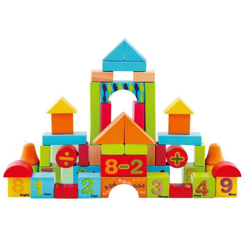 DIGITAL WOODEN BUILDING BLOCKS 50 PCS - Children Islamic Collection