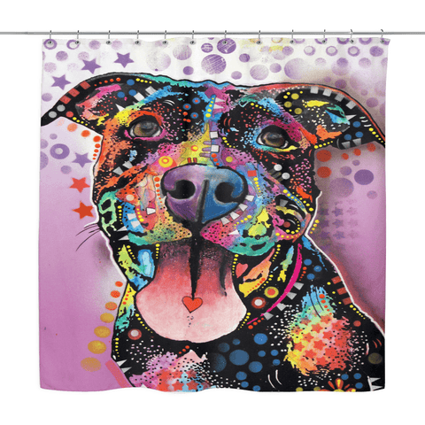Pit Bull Shower Curtains - VII