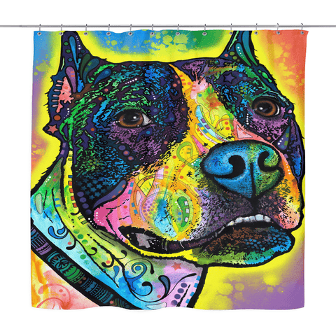 Pit Bull Shower Curtains - VI