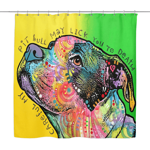 Pit Bull Shower Curtains - IV
