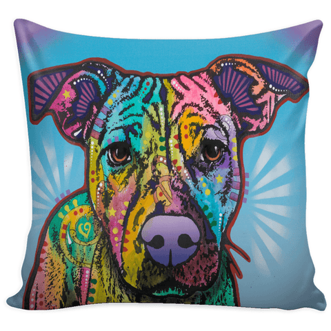 Dean Russo Pit Bull Pillow Cover