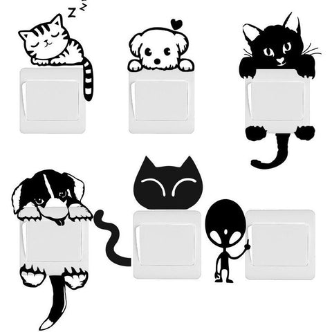 Fun Cat and Dog Switch Stickers