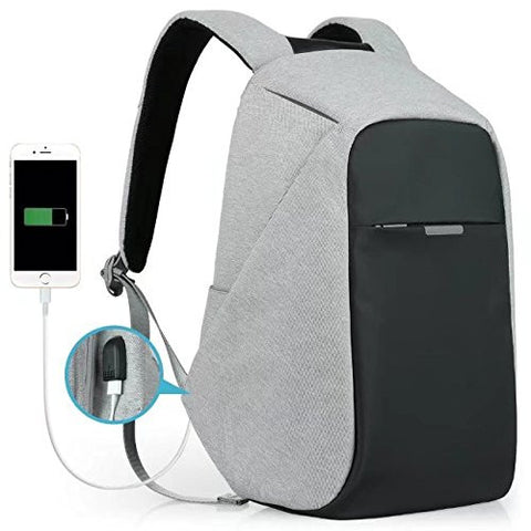 Anti-theft Travel Backpack with USB Charging Port for  Student / Business
