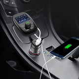 Enfonie FM Transmitter Car Bluetooth Adapter w/ Quick Charger 3.0 Dual USB