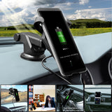 Enfonie Qi Wireless Car Charger Fast Charge for all Qi-enabled Devices