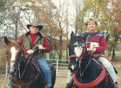 Terri and Dwayne Horse Back Riding