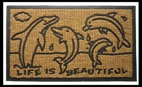 Animal Doormat-Dolphins-Ocean Life