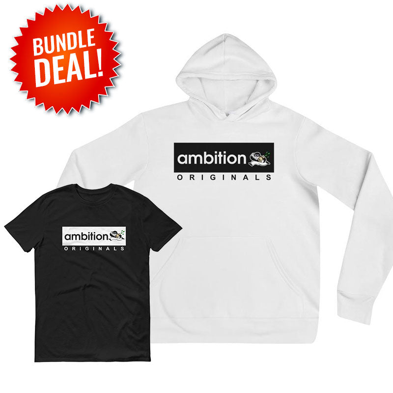 """AMBITION"" Winter Bundle Package (Hoodie+T-Shirt)"