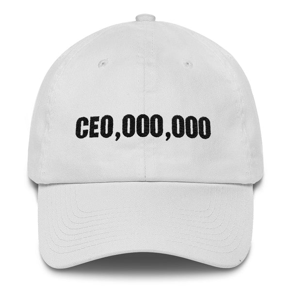 CEO, 000, 000 Dad Hat (White)