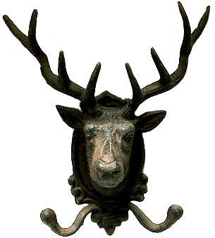 Cast Iron Elk Deer Hat Wall Hook