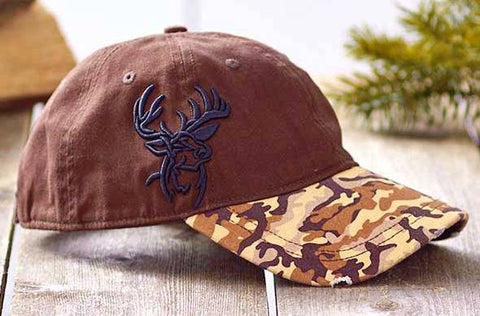 Deer Embroidered Camo Cap