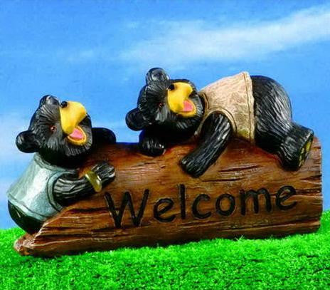 Bear Welcome Log