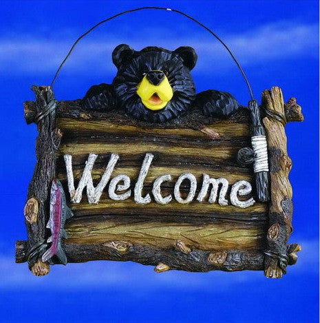 """Welcome"" Bear Sign"