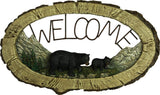 Bear Pine Tree Welcome Sign