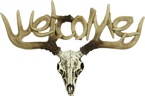 Euro Deer Welcome Sign - Small