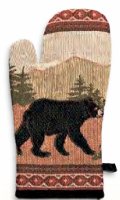 """Black Bear"" Oven Mitt"