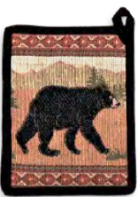 """Black Bear"" Pot Holder"