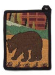 Rustic Country Bear Pot Holder