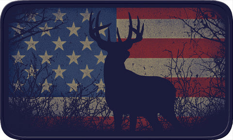 Flag & Deer Memory Foam Bath Mat