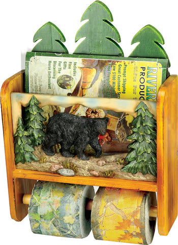 Bear Magazine Rack TP Holder