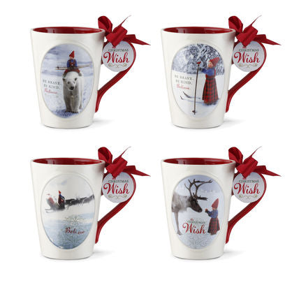 The Christmas Wish Mugs - 4 Assorted