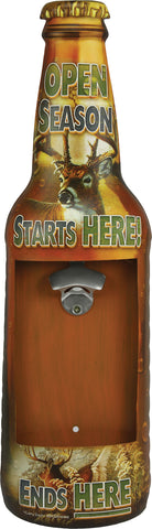 """Open Season Starts Here"" Bottle Opener - 24"" Tall"