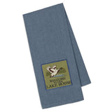 """Welcome to Our Lake House"" Embellished Duck Dishtowel"