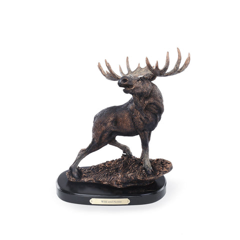 """Wild and Noble"" Moose Sculpture"