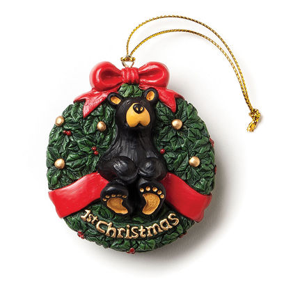 1st Christmas Bear Ornament