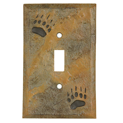 Bear Track Single Switch Plate