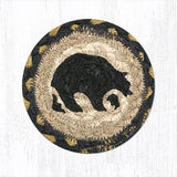 Black Bear individual braided coaster