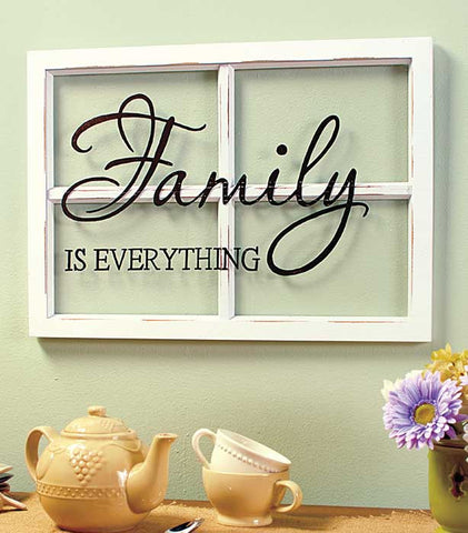 """Family is Everything"" Window Pane Art"