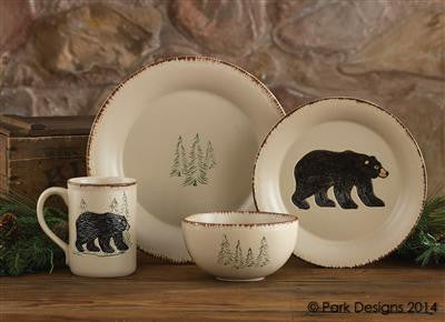 Rustic Retreat Salad Plate - Bear