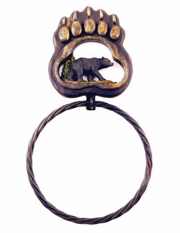 Bear Paw Bath Towel Ring