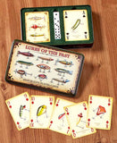 Antique Lures Playing Cards & Dice Tin