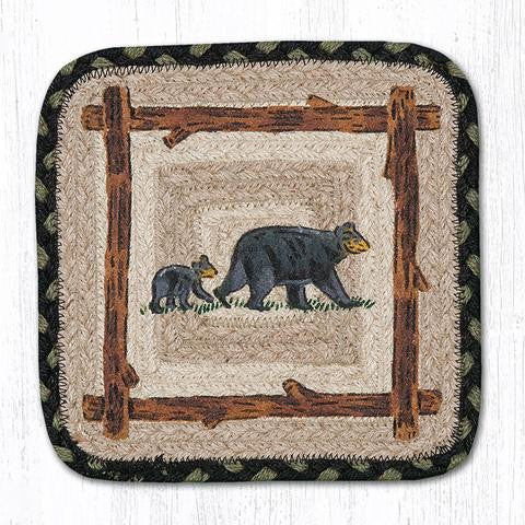 Mama & Baby Bear braided trivet