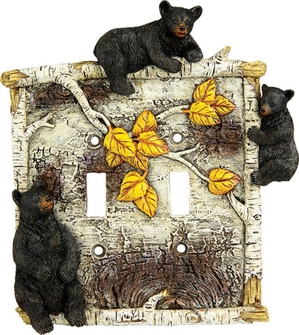 Birch Bear Double Switch Cover