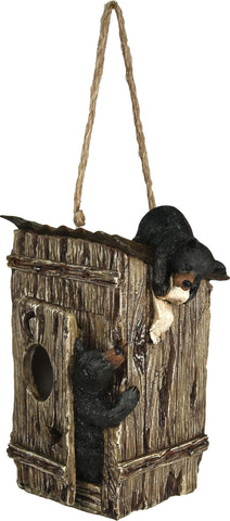Bears in Outhouse Birdhouse