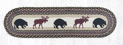Bear & Moose braided table runner
