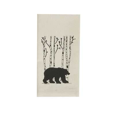 Bear & Birch Tree print napkin