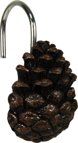Pine Cone Shower Curtain Hooks