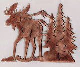 Moose Die-Cut Metal Art