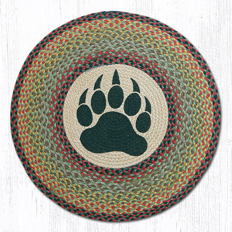 Bear Paw braided round rug