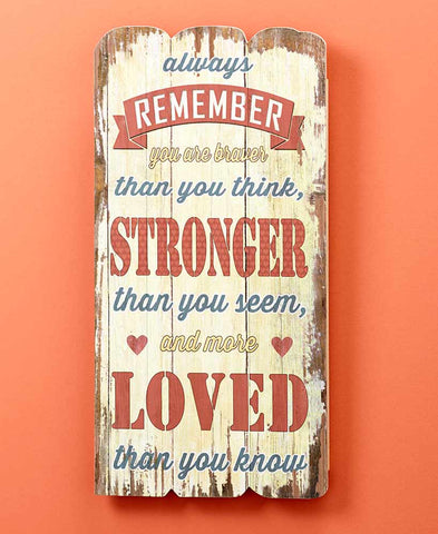 """Always Remember"" Sentimental Wall Sign"