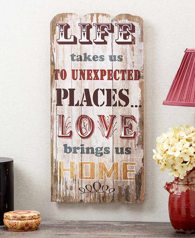 """Life Takes Us"" Sentimental Wall Sign"