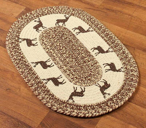 Deer Braided Accent Rug