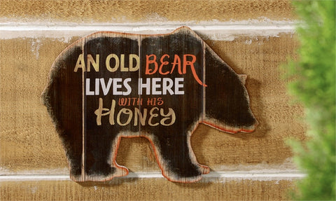 Bear Design Wall Plaque