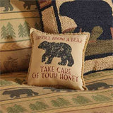 "Advice From A Bear 10"" Pillow"